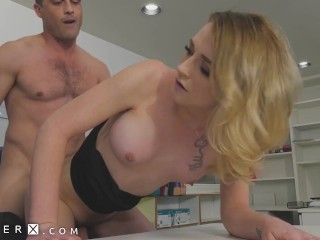 GenderX – Blonde Hottie Candy Marie Fucked Over Office Desk