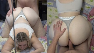 19yo girl with big ass gets rough painful anal sex