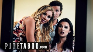 PURE TABOO Kylie Rocket is Curious About Threesome with Date & His Horny Step-Aunt
