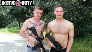 ActiveDuty - Muscle Cub Teaches New Recruit How To Fuck