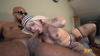 Stefany Clantre Gets Ass Pounded Trans500 Debut