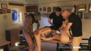 PrivateBlack -Gagging Girly Captians Suck & Fuck Cock At Sea
