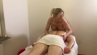 Swedish felisie gives massage with happy ending