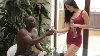 BLACK4K. Babe has fun with black athlete who nails tight hole between buttocks