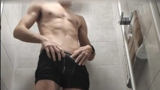 Teen have fun at the hotel shower (60 FPS 1080p)