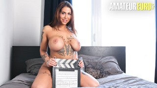 CastingFrancais - Big Tits Canadian Babe Intense Squirting Orgasm On Camera - AMATEUREURO