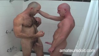 Australian Good Looking Top Prepares His Aussie Bottom Mate To Be Fucked By His Uncut Meat