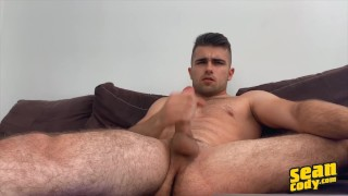 Sean Cody - Stud Thony Grey Unbuttons His Shirt To Reveal His Sexy Muscles Before Jerking Off