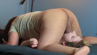 Hot Teen Gets Ball Slapping Face Fuck With Sloppy Gagging and Deepthroat Cum in Mouth Throatpie