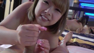 chubby cute college girl④Blow. Handjob. Nipple licking. An angel who pulls out with a smile.
