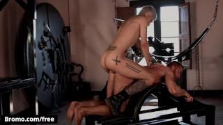 Bromo - Tattooed Stallion Tyler Berg Thrusts His Big Hard Cock Deep Inside Mickey Taylor's Mouth