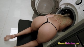 Fucking My Hot Step Mom while She is Stuck in the Dryer - Nikki Brooks