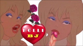 BLONDE HOLLI BLOWJOB CARTOON big tits dancer licks penis and fucks anime fellatio BJ COCK BLOWJING