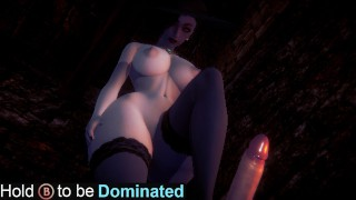 Dominated by Tall Lady Dimitrescu(3D PORN) Resident Evil Village