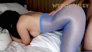 Cum inside curvy girlfriend in sexy bodysuit