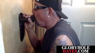 Dicksucking gloryhole daddy pleasing ebony guy