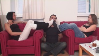 sock smelling foot girls