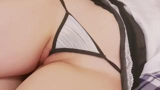 [Cosplay] Slutty Maid was Fucked and Creampied with no birth control -fukinggogo