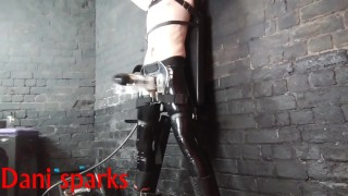 tied up and made to cum solo male Large cum shot!! (Dani sparks)