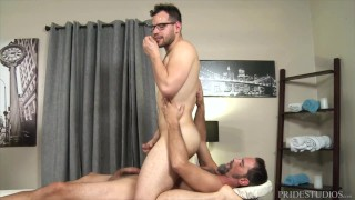 PrideStudios - Massage Therapist Seduces Silver Daddy Before Riding Giant Cock