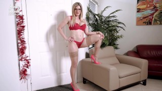 My Cheating Step Mom Empties My Balls into her Mouth - Cory Chase