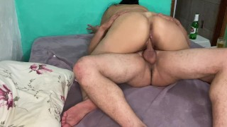 latina mature fucks hard and enjoys three times on her husband's cock
