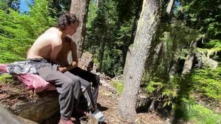 Cute Twink Sucks His Boyfriend's Dick Outdoors