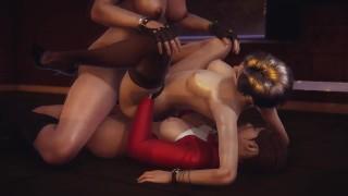 Double Futa - Resident Evil - Claire x Jill x Ada - 3D Porn