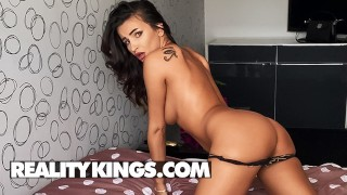 Reality Kings - Sensational Alyssia Kent Talks Dirty As She Oils Up Her Big Boobs & Rides Her Dildo