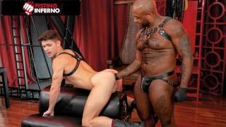 Ebony Daddy Micah Shows Devin Franco Who's Boss! - FistingInferno