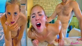 Dripping Sweat While Fucked and Sucking Cock For Facial