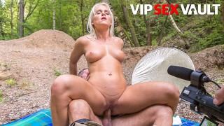 ExposedCasting - Rossella Visconti Blonde Czech Slut Outdoor Fuck With Horny Casting Agent