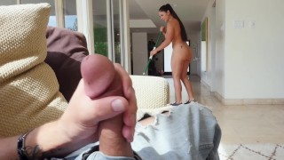 BANGBROS - Spanish Maid With Big Ass Marta La Croft Taking Dick From Her Client