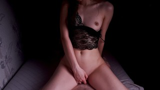 Hot Roommate In Sexy Lingerie With A Big Ass Fucks Better Than Girlfriend (POV)