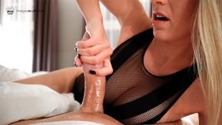 Incredible hotel service! Hot blonde girl masters special pressure handjob technique - MagicMuffin