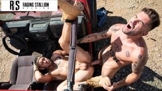 Chris Damned Pounds Some Jock Ass In The Desert - RagingStallion