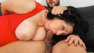 MATURE4K After great blowjob guy makes it vaginally with busty mature
