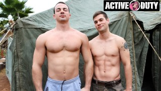 ActiveDuty - New Recruit Eager To Ride Officer's Big Dick