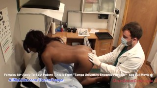 Ebony Misty Rockwell new Student Gyno Exam by Doctor Tampa Caught on Camera only @ GirlsGoneGynoCom