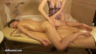 Amazing sensual virgin massage of Rita