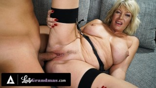 LustyGrandmas Busty Blonde Granny's Pussy Feels Fresh Again After Taking Cock Doggystyle