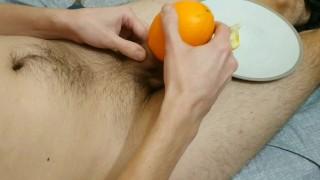 Эксперимент. Сделал вагину - мастурбатор из апельсина