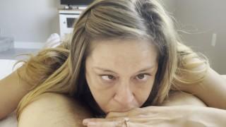 POV - Neighborgrace Learns To Deepthroat a Fat Cock