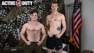 Redhead Soldier Uses James Ryan's Hole - ActiveDuty