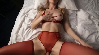 AMAZING GIRL Fucked With Passion - POV Cumshot Onto ROUND ASS