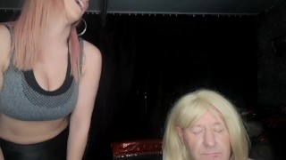 Sexy fem dom and mature tranny dominate and fem a sissy