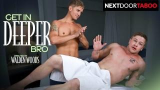 Straight Hunk Gets Hard Getting Massage From Stepbrother - NextDoorTaboo