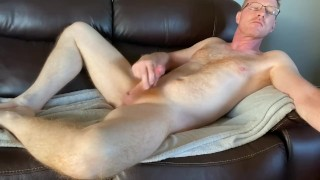 Wank and cum on my ginger pubes