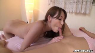 Japanese babe, Akari Asayiri is having sex, uncensored