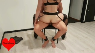 Hot MILF Restrains Her Toyboy, Strip Tease with CUM ON FACE - Twist3dLov3rs